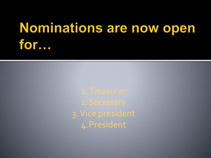 Nominations are now open for…