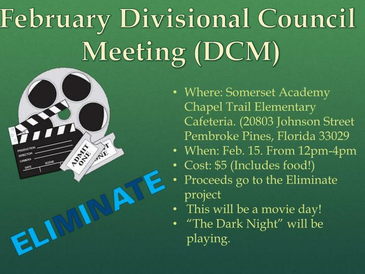 February Divisional Council