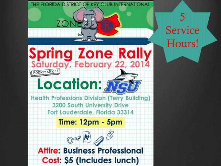 5 Service Hours!