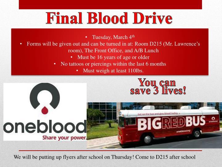 Final Blood Drive