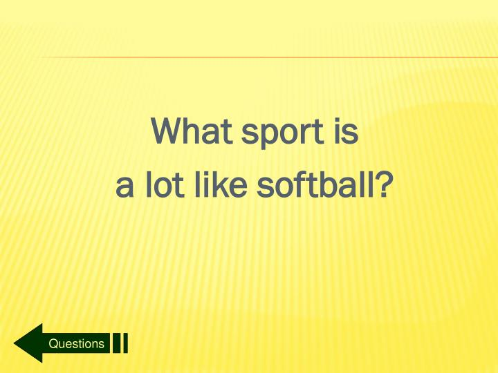 What sport is