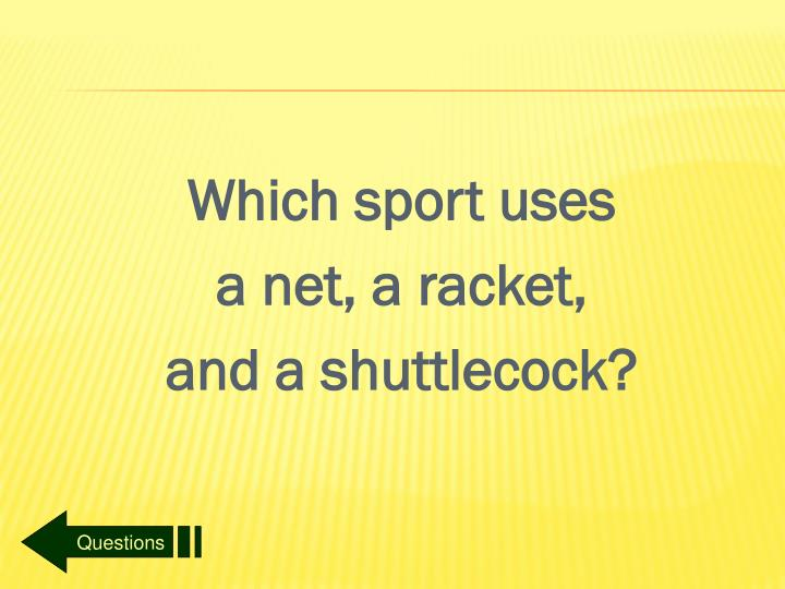 Which sport uses