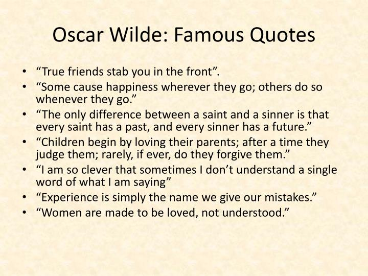 Oscar Wilde: Famous Quotes