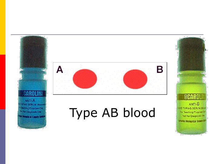 Type AB blood