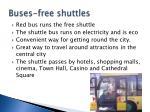 buses free shuttles
