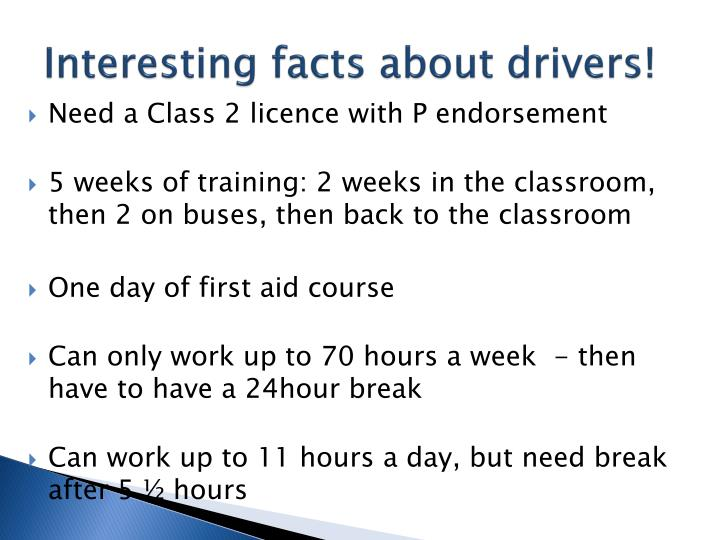 Interesting facts about drivers!
