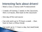 interesting facts about drivers