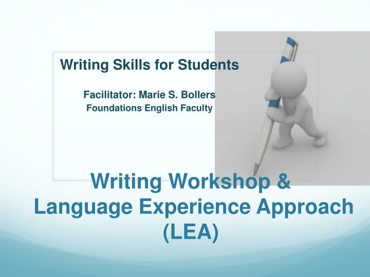Writing workshop language e xperience approach lea