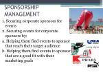 sponsorship management