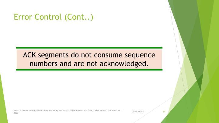 Error Control (Cont..)