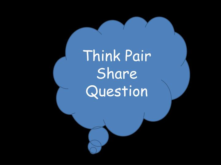 Think Pair Share Question