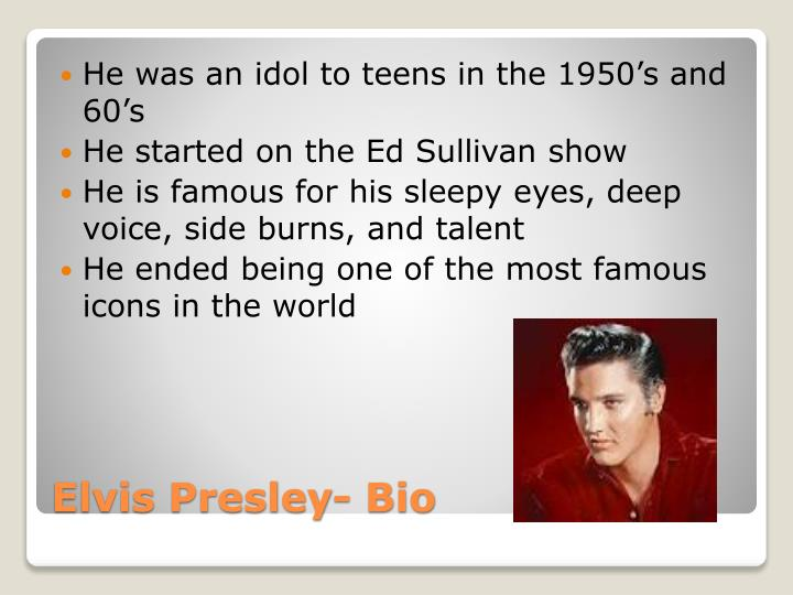 He was an idol to teens in the 1950's and 60's