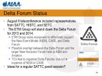 delta forum status
