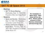 sat tc @ space 2012