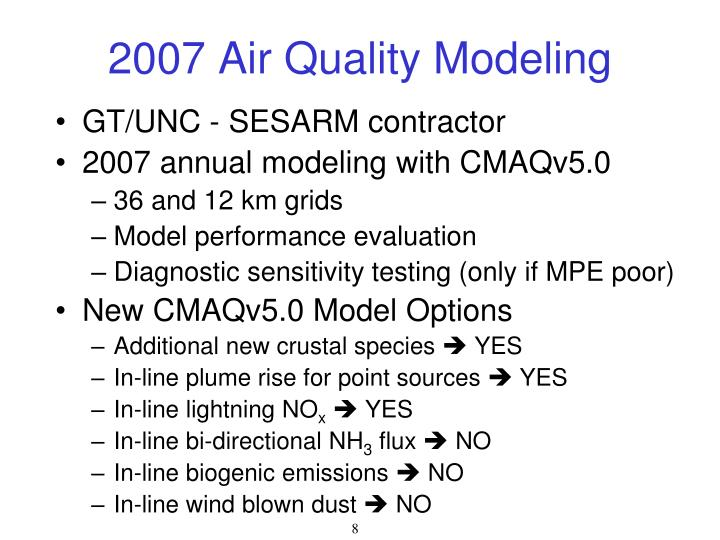 2007 Air Quality Modeling