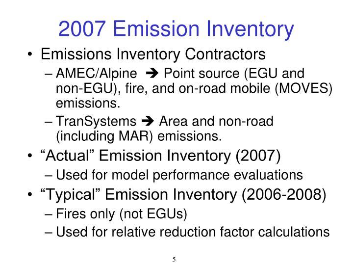 2007 Emission Inventory