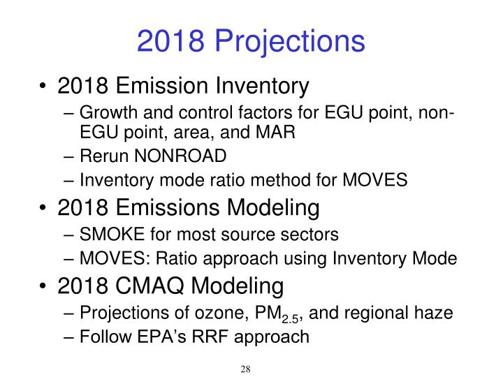 2018 Projections