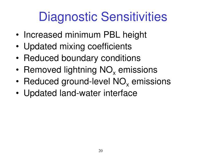 Diagnostic Sensitivities