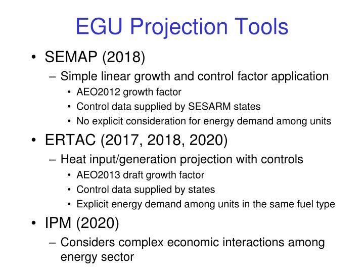 EGU Projection Tools