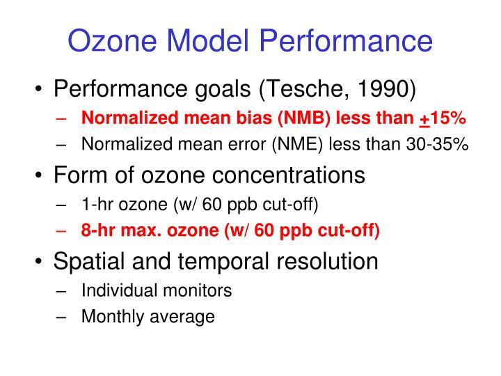 Ozone Model Performance