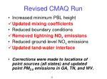 revised cmaq run