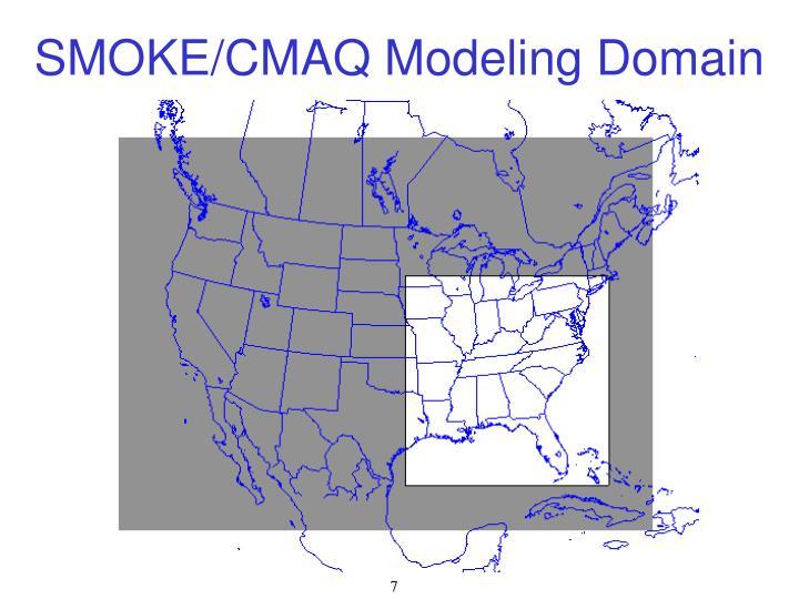 SMOKE/CMAQ Modeling Domain