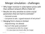merger simulation challenges
