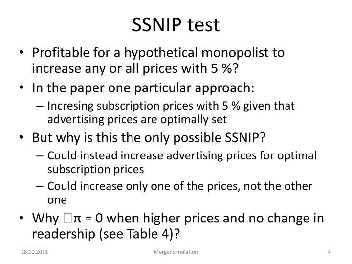 SSNIP test