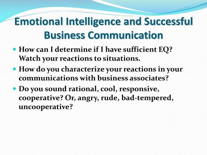 Emotional Intelligence and Successful Business