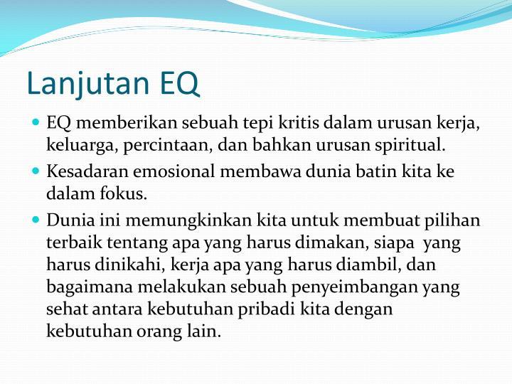 Lanjutan EQ