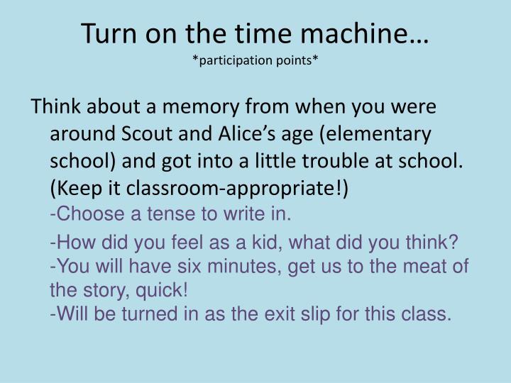 Turn on the time machine…