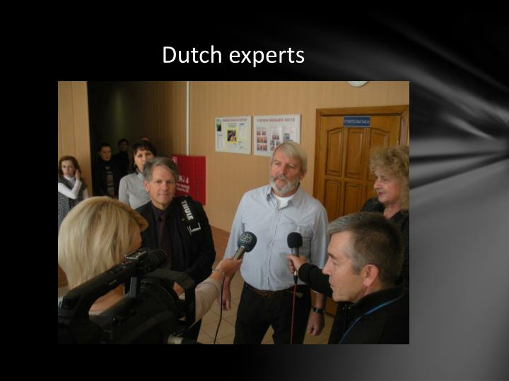 Dutch experts