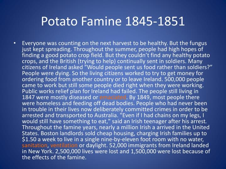 Potato Famine 1845-1851