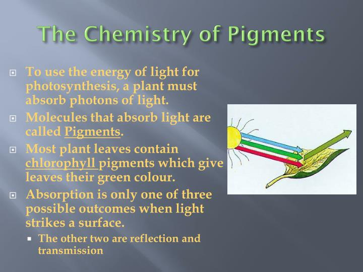The Chemistry of Pigments