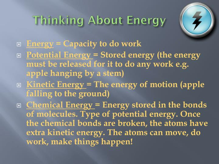Thinking About Energy