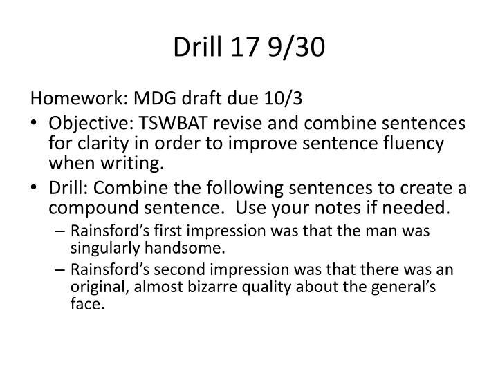Drill 17 9/30