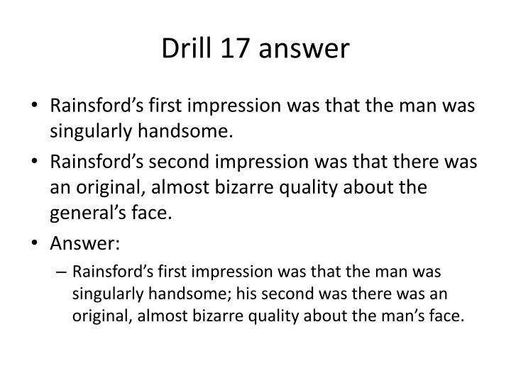 Drill 17 answer