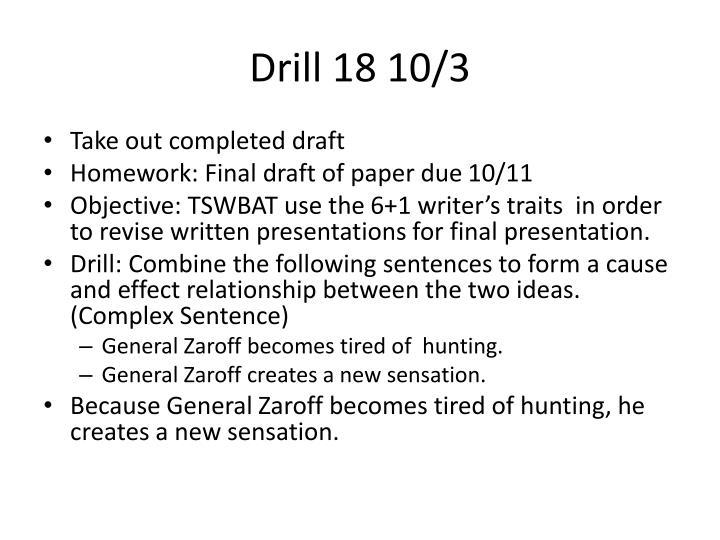 Drill 18 10/3