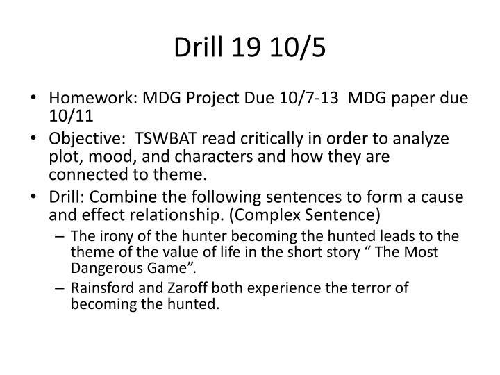 Drill 19 10/5