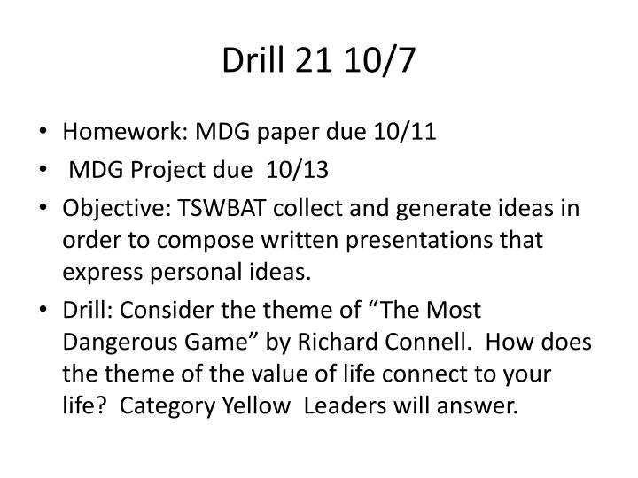 Drill 21 10/7