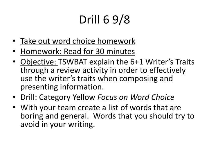 Drill 6 9/8