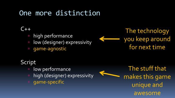 One more distinction