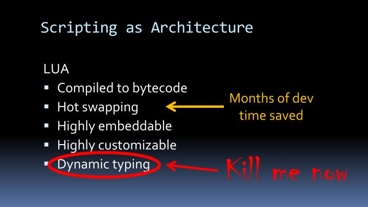 Scripting as Architecture