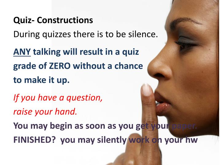 Quiz- Constructions