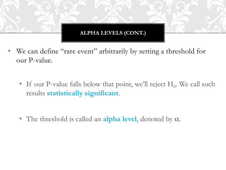 Alpha levels (cont.)