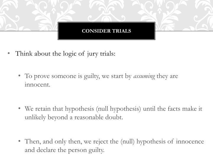 Consider Trials