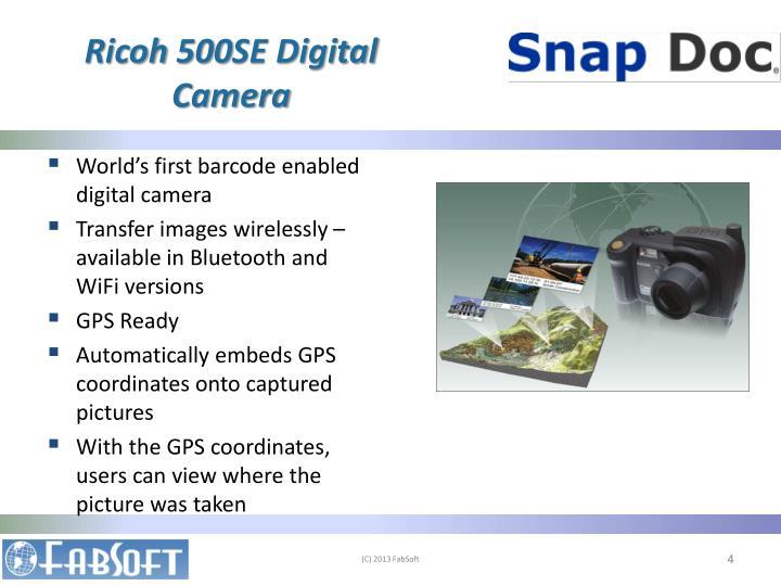 Ricoh 500SE Digital Camera