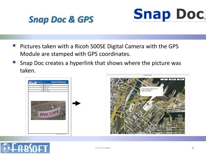 Snap Doc & GPS