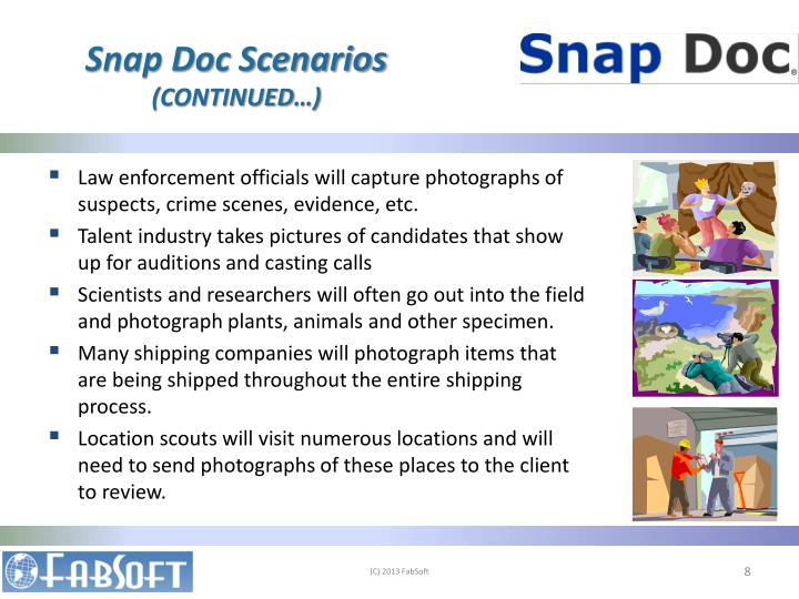 Snap Doc Scenarios