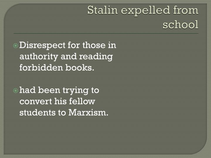 Stalin expelled from